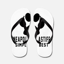 Neapolitan Mastiff Simply The Best Flip Flops
