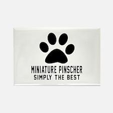 Miniature Pinscher Simply The Bes Rectangle Magnet