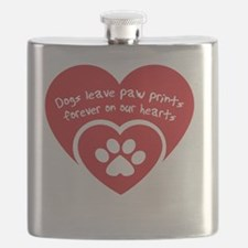 Cute Lab paw Flask