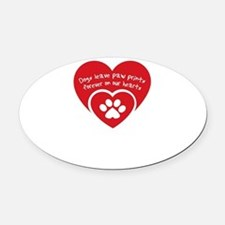 Cute Heart of texas lab rescue Oval Car Magnet