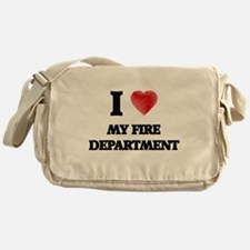 I Love My Fire Department Messenger Bag