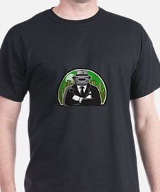 Mobster Car Grille Face Circle Retro T-Shirt
