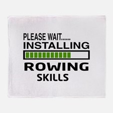 Please wait, Installing Rowing Skill Throw Blanket