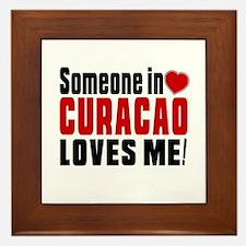 Someone In Curacao Loves Me Framed Tile