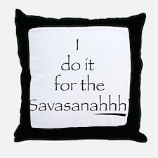 Savasanahhh! Throw Pillow