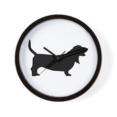 Basset Hound Basic Wall Clock