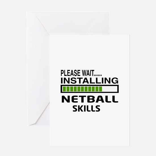 Please wait, Installing Netball Skil Greeting Card