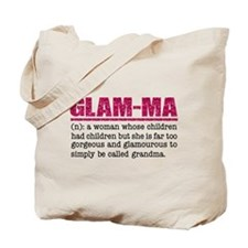Faux Glitter Hot Pink Glam-Ma Tote Bag