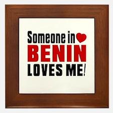 Someone In Benin Loves Me Framed Tile