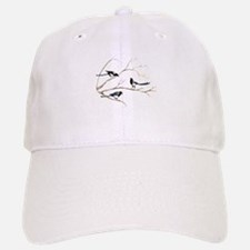Watercolor Magpie Bird Family Hat