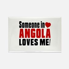 Someone In Angola Loves Me Rectangle Magnet