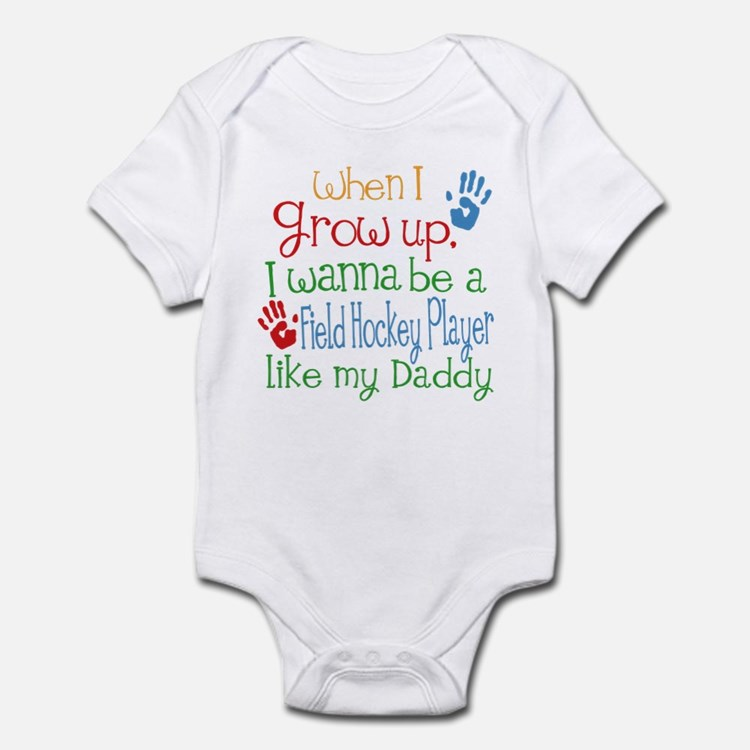 Field Hockey Player Like Daddy Infant Bodysuit