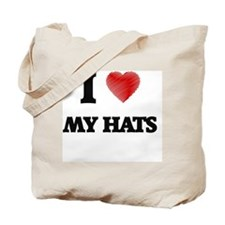 I Love My Hats Tote Bag
