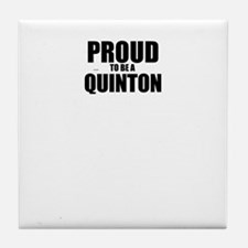 Proud to be QUINTON Tile Coaster
