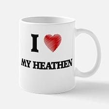 I Love My Heathen Mugs