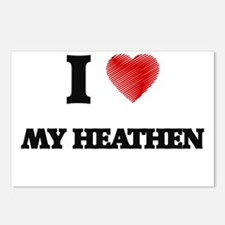 I Love My Heathen Postcards (Package of 8)