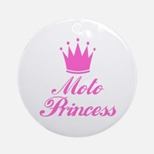 BikerBaby Moto Princess Ornament (Round)