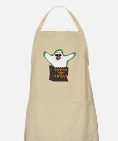 Trick-or-Treat Ghost BBQ Apron