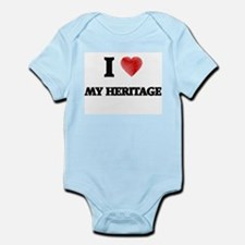 I Love My Heritage Body Suit