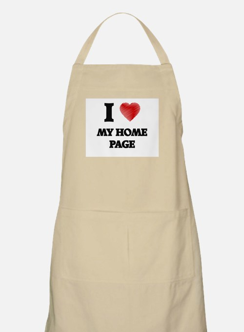 I Love My Home Page Apron