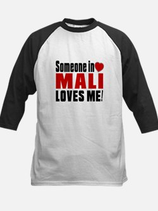 Someone In Mali Loves Me Kids Baseball Jersey