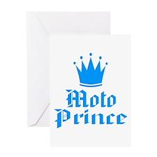BikerBaby Moto Prince Greeting Card