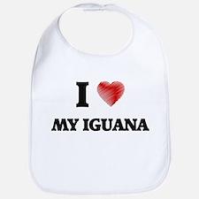 I Love My Iguana Bib