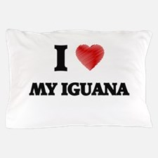 I Love My Iguana Pillow Case