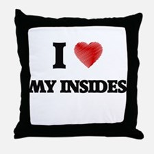 I Love My Insides Throw Pillow