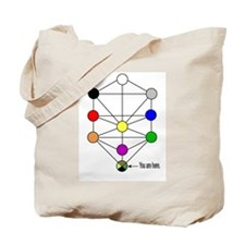 Kabbalah You are Here Tote Bag