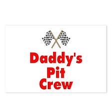 Biker Baby Pit Crew Dad Postcards (Package of 8)