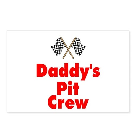 Biker Baby Pit Crew Dad Postcards (Package of 8)