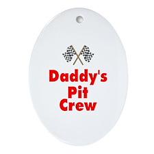 Biker Baby Pit Crew Dad Oval Ornament