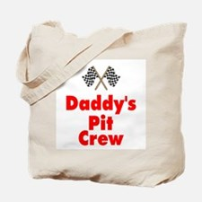Biker Baby Pit Crew Dad Tote Bag