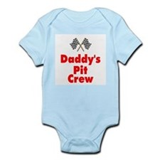 Biker Baby Pit Crew Dad Infant Bodysuit
