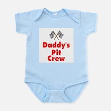 Biker Baby Pit Crew Dad Infant Bodysuit