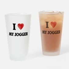 I Love My Jogger Drinking Glass