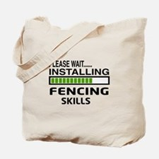 Please wait, Installing Fencing Skills Tote Bag