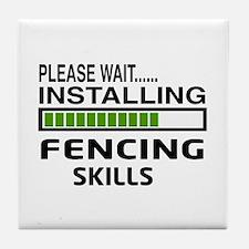 Please wait, Installing Fencing Skill Tile Coaster