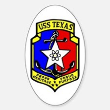USS Texas (CGN 39) Oval Decal