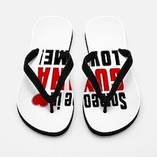 Someone In Guyana Loves Me Flip Flops