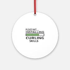 Please wait, Installing Curling Ski Round Ornament