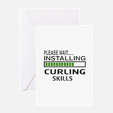 Please wait, Installing Curling Skil Greeting Card