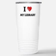 I Love My Library Travel Mug