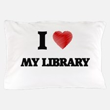 I Love My Library Pillow Case
