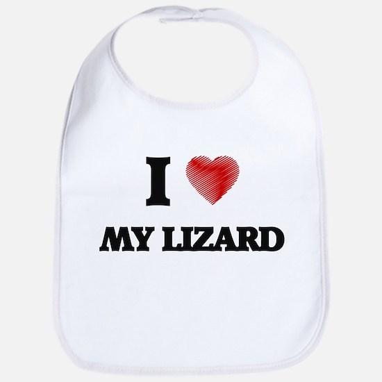 I Love My Lizard Bib