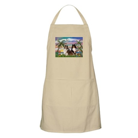 Palms & Sheltie Pair BBQ Apron