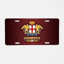 Genova Aluminum License Plate