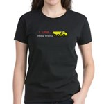 I Love Dump Trucks Women's Dark T-Shirt