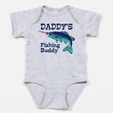 Cute Fishing dad Baby Bodysuit